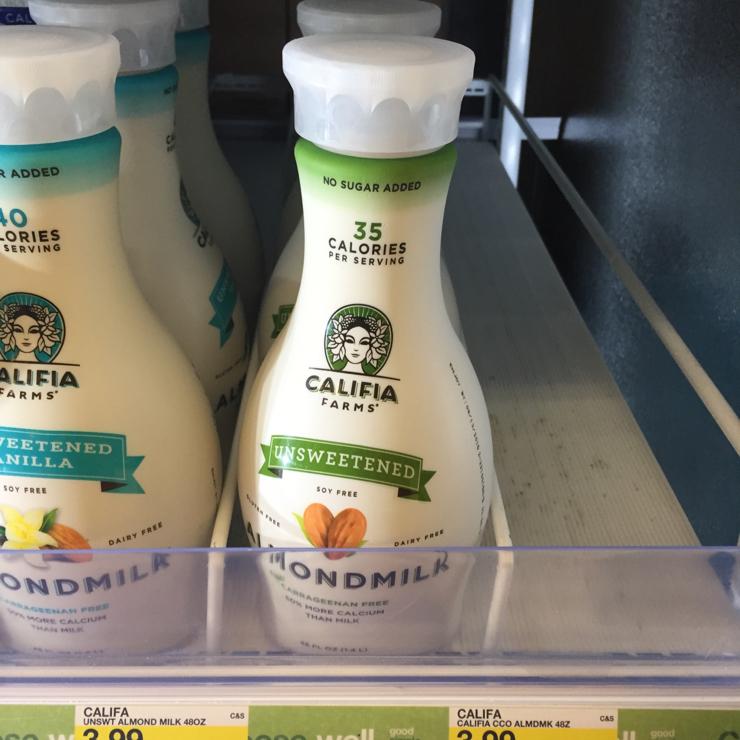 Vegan user review of Target in San Jose. Almond milk