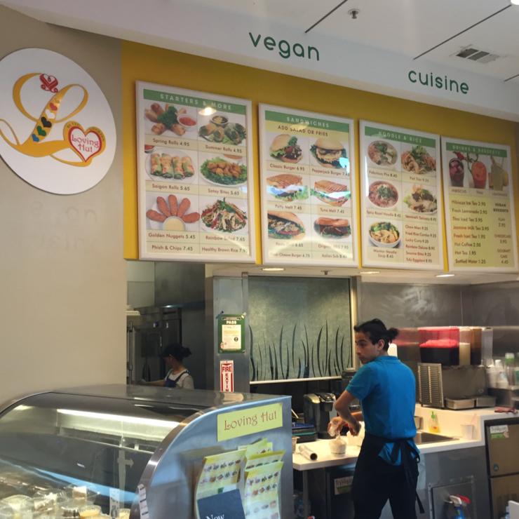 Vegan user review of Loving Hut in San Jose. Loving Hut at the mall.