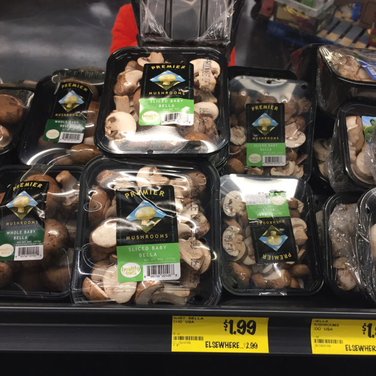 Vegan user review of Grocery Outlet in San Jose. #mushrooms