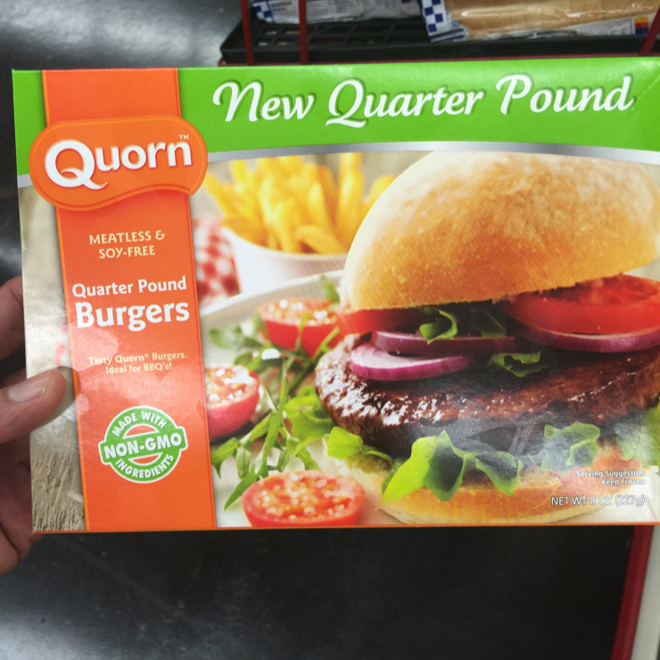 Vegan user review of Grocery Outlet in San Jose. Quorn vegan burger