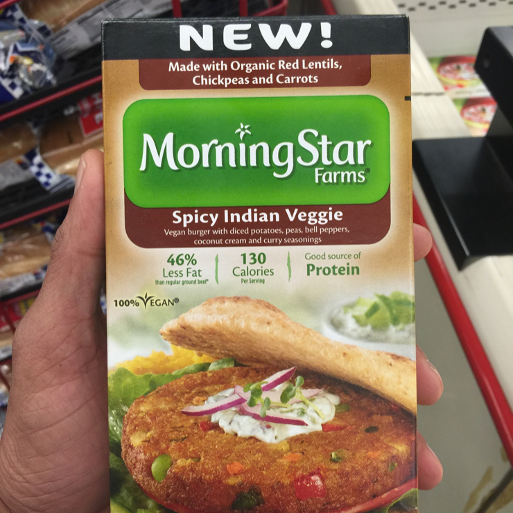 Vegan user review of Grocery Outlet in San Jose. Masala burger