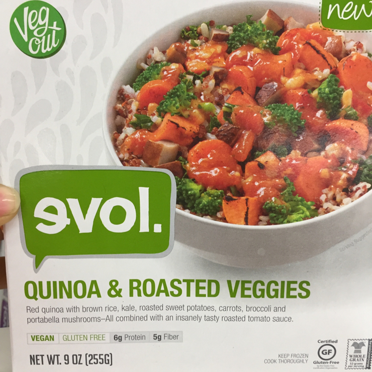 Vegan user review of Grocery Outlet in San Jose. Quinoa & veggies