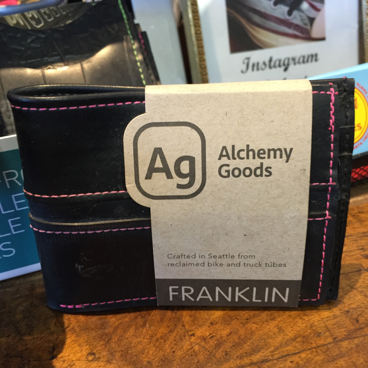 Vegan user review of Old School Shoes in Santa Cruz. #wallets #upcycled #tires