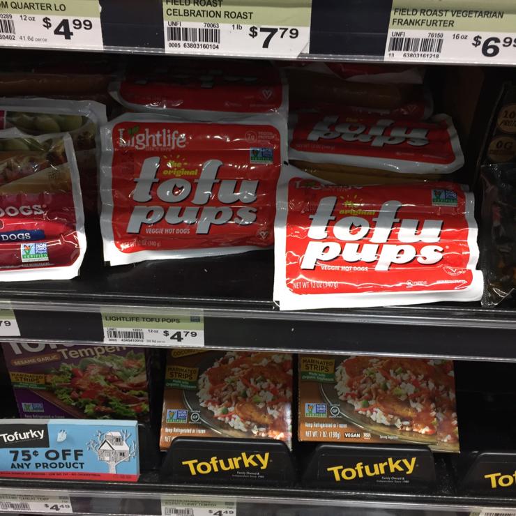Vegan user review of New Leaf Community Markets in Santa Cruz. #tofudogs