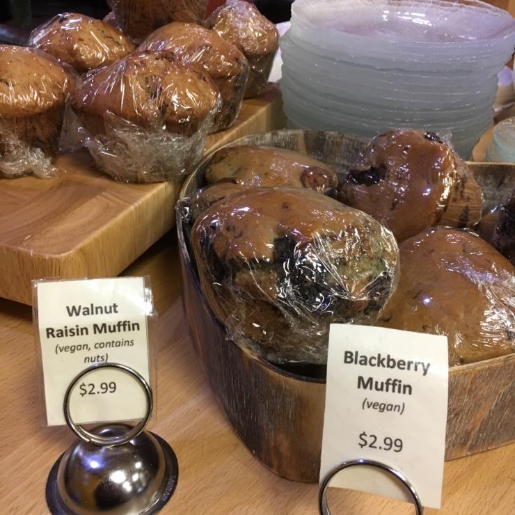 Vegan user review of Delicious Crepes Bistro in Santa Clara. Vegan muffins