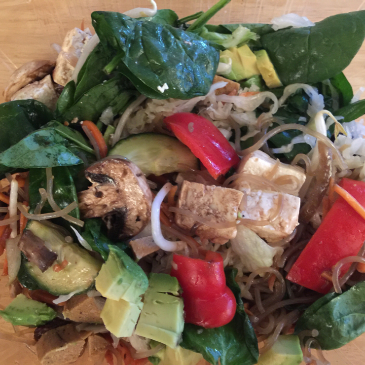 Vegan user review of Beryl's Place in San Jose. Make your own salad mom & pop business #salad #tofu #small business