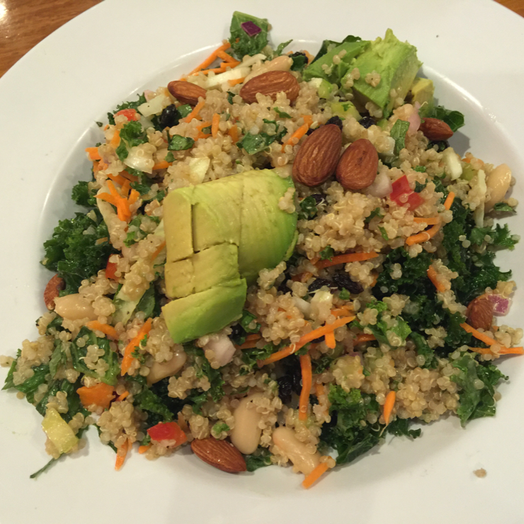 Vegan user review of Veggie Grill in Mountain View. Quinoa Power Salad #quinoa #kale  #food #lunch #dinner #restaurant