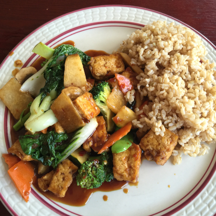 Vegan user review of Garden Fresh Chinese Vegan Cuisine in Palo Alto. Tofu at Garden Fresh #food #lunch #restaurant
