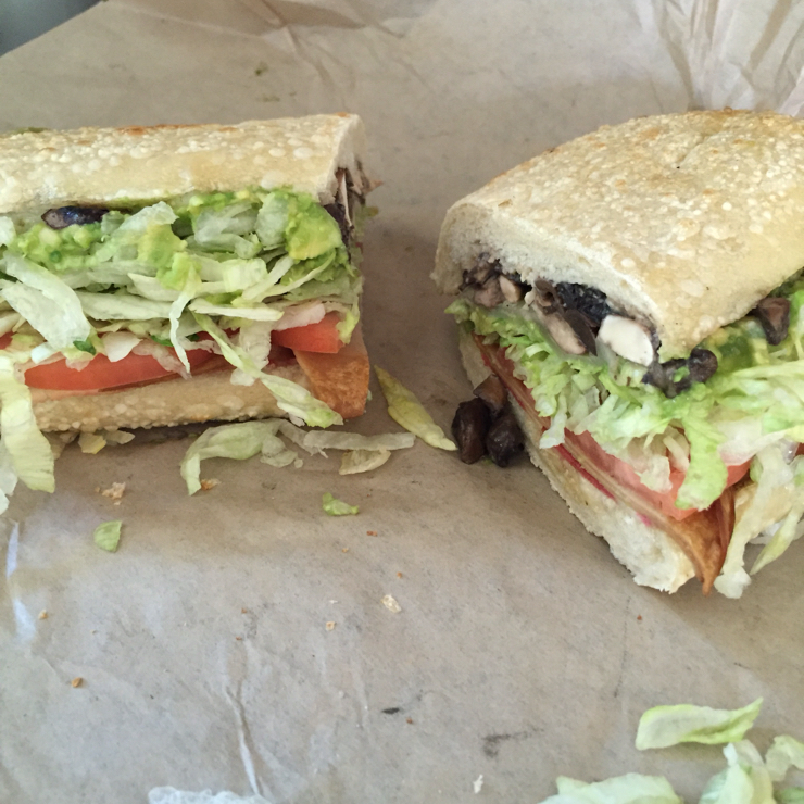 Vegan user review of Ike's Place Plant Shopping Center in San Jose. The Go Warriors #sandwich. Very satisfying. #food #lunch #restaurant