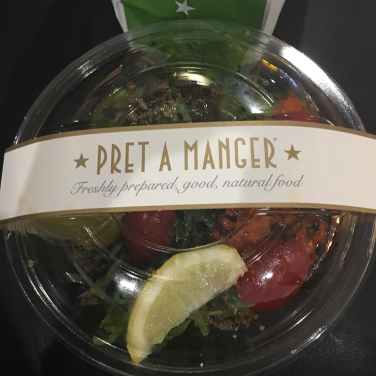 Vegan user review of Pret A Manger in London Heathrow Airport. Quinoa avocado salad #salad #food #breakfast #lunch #restaurant #store