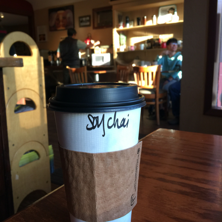 Vegan user review of Seven Suns Coffee & Cafe in Mt Shasta. #soy chai #cafe  #food