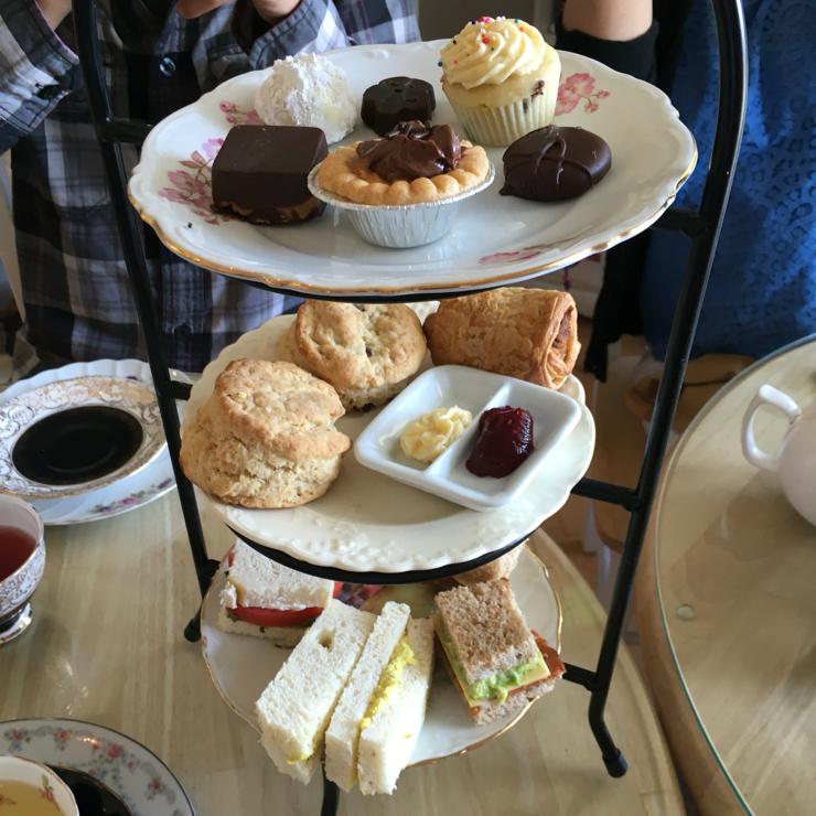 """Vegan user review of Muir's Tea Room in Sebastopol. Hope of the world """"rack"""" #food #lunch #dessert #restaurant"""