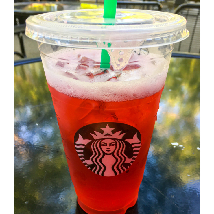 Vegan user review of Starbucks in Stanford. Iced passion tea - perfect for a hot day!