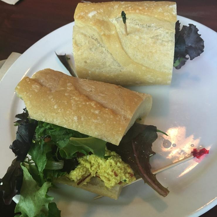 Vegan user review of Delta of Venus in Davis. #vegan tofu curry sandwiches at Delta of Venus in Davis!  #food #lunch #restaurant