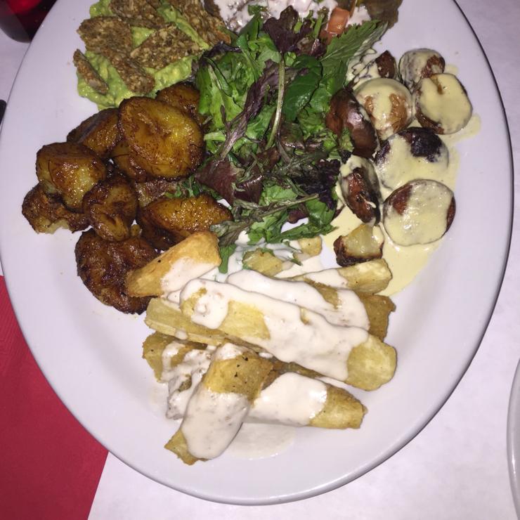 Vegan user review of Peña Pachamama in San Francisco. Sampler plate of Bolivian vegan food.  Great food.  #dinner