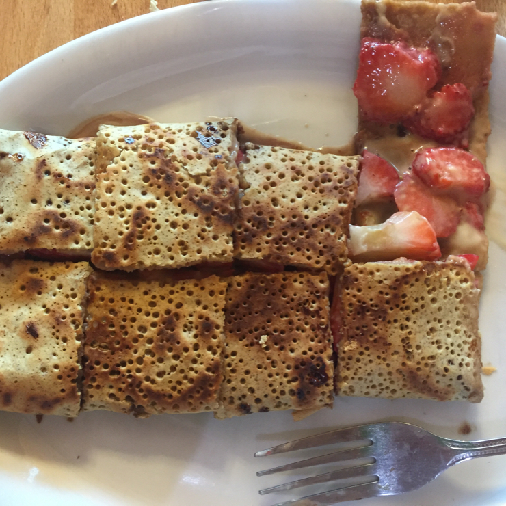 Vegan user review of Delicious Crepes Bistro in Santa Clara. Desert crepe with some of the South Bay Vegans ( 10 days ago).  #dinner