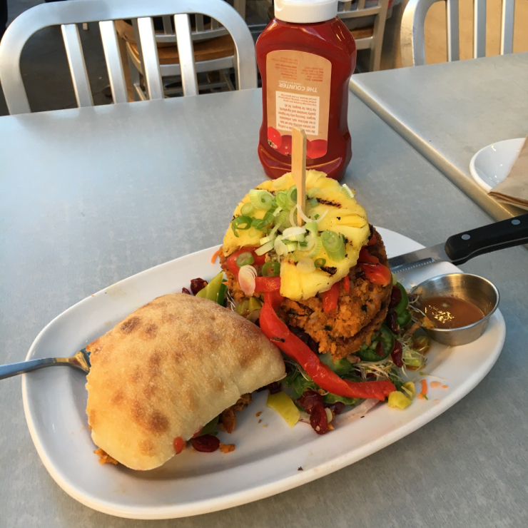 Vegan user review of The Counter Santana Row in San Jose. Vegan burger #food #dinner #restaurant