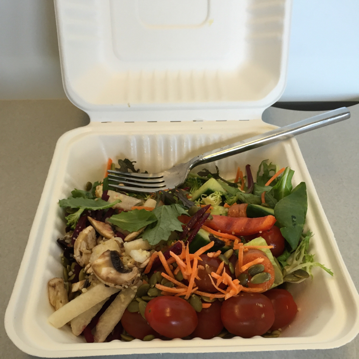 Vegan user review of GoPro in San Mateo. Fresh salad bar at GoPro #lunch