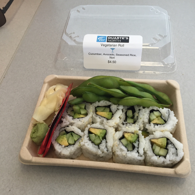 Vegan user review of GoPro in San Mateo. Veggie sushi #lunch