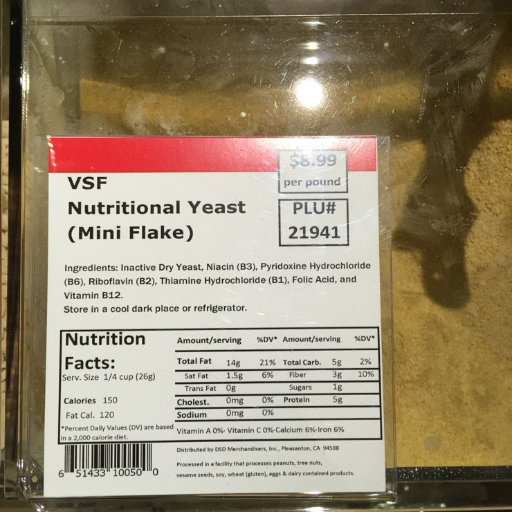 Vegan user review of Safeway in San Jose. This is great on popcorn.  #b12 #vitamin #acid #folic #yeast #nutritional #per