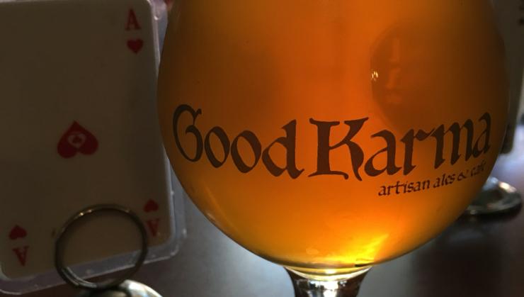 Vegan user review of Good Karma Artisan Ales & Cafe in San Jose. #alcoholic_beverage Lagunitas Born Yesterday Pale Ale  #alcoholic_beverage