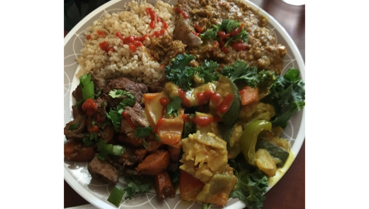 Vegan user review of Good Karma Artisan Ales & Cafe in San Jose. #food #lunch #restaurant Dal with yellow curry and Jamaican Jerk  #restaurant #lunch #food