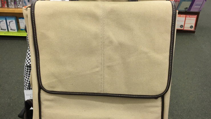 Vegan user review of Barnes & Noble in San Jose. Vegan leather accent on this bag #stationery #bag #stationery #bag