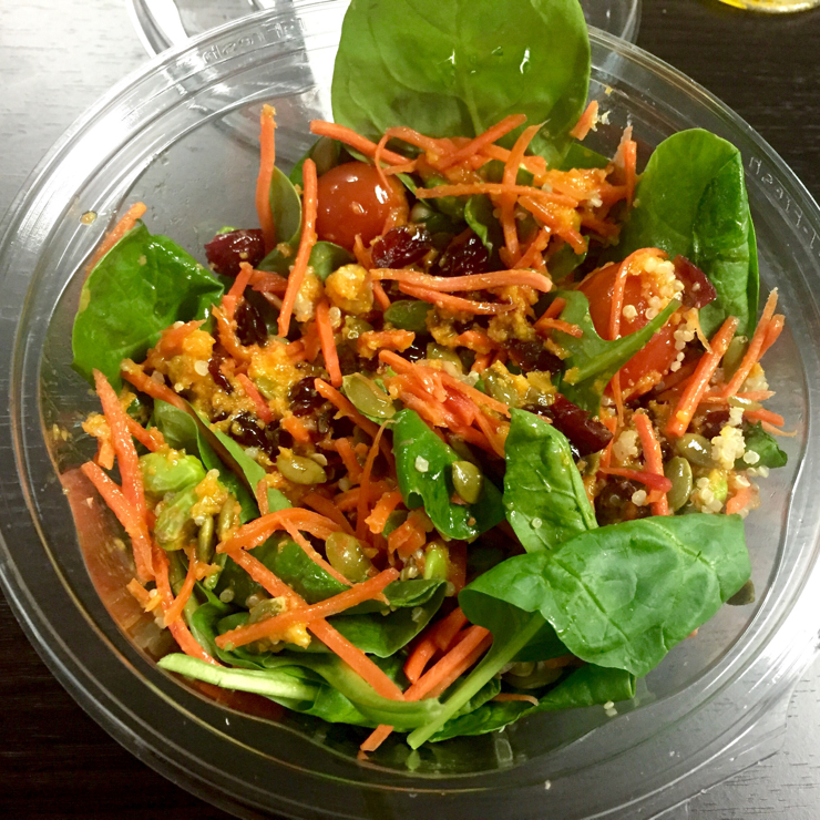 Vegan user review of Trader Joe's in Mountain View. Super spinach salad with carrot ginger miso dressing