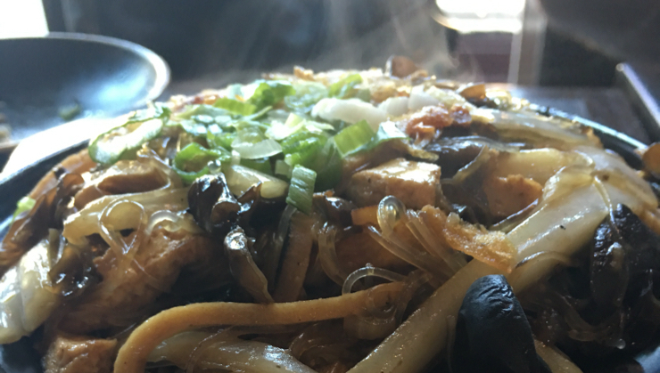 Vegan user review of Indochine Vegan in San Francisco. #food #lunch #dinner #restaurant #claypot #rice #asian Claypot rice with mushrooms and tofu. Flavorful.  #restaurant #dinner #lunch #food