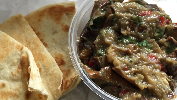 Vegan user review of Ayola in San Francisco. Eggplant salad with no feta from Ayola  #lunch