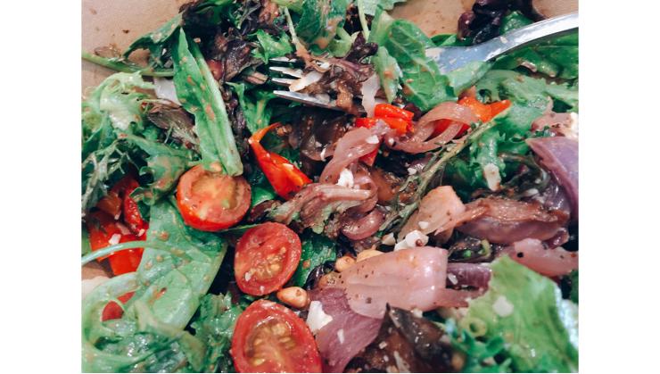 Vegan user review of Soma Eats in San Francisco. Roasted vegetable salad  #salad #lunch