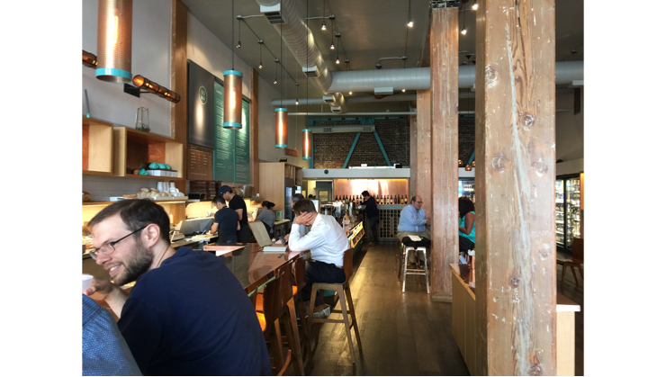 Vegan user review of Soma Eats in San Francisco. Inside of SOMA Eats - fun place, lots of beers too #lunch #food