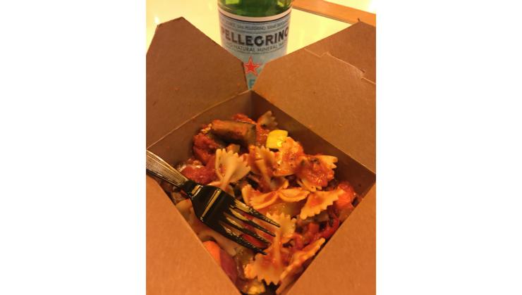 Vegan user review of Pasta Moto in San Francisco. Farfalle primavera #pasta