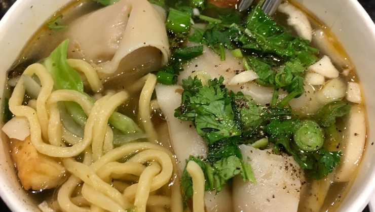 Vegan user review of Loving Hut in Santa Clara. Wonton Soup, add noodles for $1, and 10% off if you let them know you're vegan for life. #wonton #noodle #soup #asian_food