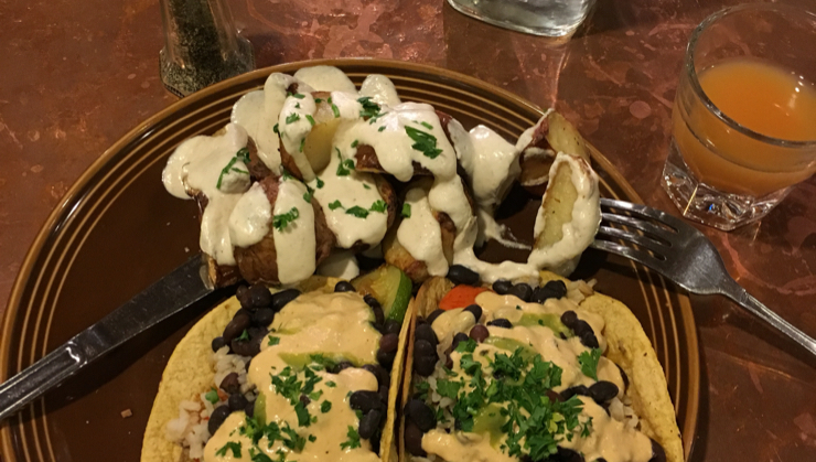 Vegan user review of Cafe Gratitude in Santa Cruz. #meal #dish #food #dinner #restaurant