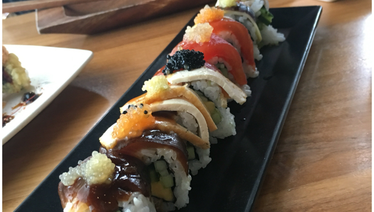 Vegan user review of Shizen Vegan Sushi Bar & Izakaya in San Francisco. My favorite #sushi roll, Proud Peacock, at my favorite restaurant Shizen