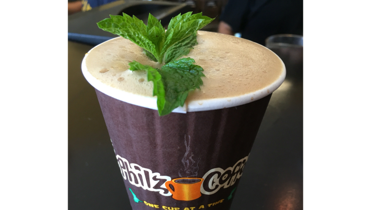 Vegan user review of Philz Coffee in Cupertino. Tantalizing Turkish coffee