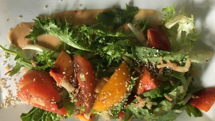 Vegan user review of Millennium in Oakland. Nectarine salad! #lunch #restaurant #restaurant #lunch
