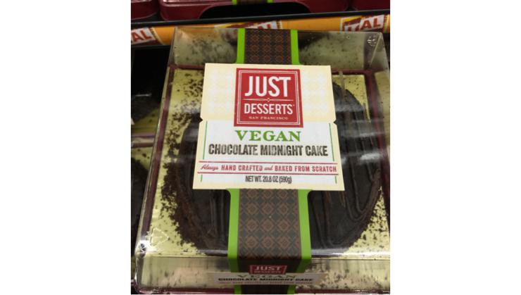 Vegan user review of Safeway in Santa Clara. Chocolate cake - at Safeway... Who knew? #dessert #chocolate_cake
