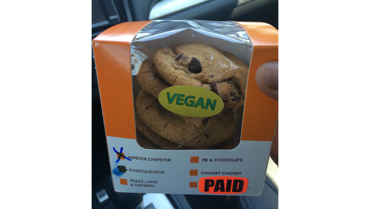 Vegan user review of Whole Foods Market in Campbell. Hipster Chipster chocolate cookies. So good! #food #dessert #grocery #store