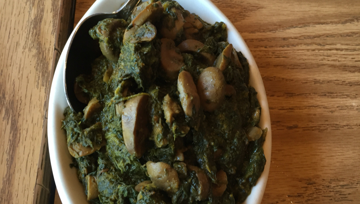 Vegan user review of Cafe Raj in Albany. Mushroom spinach; this place has lot of vegan dishes. Food is tasty. Nearby there is a vegan ice cream place. Great Albany downtown. #dinner