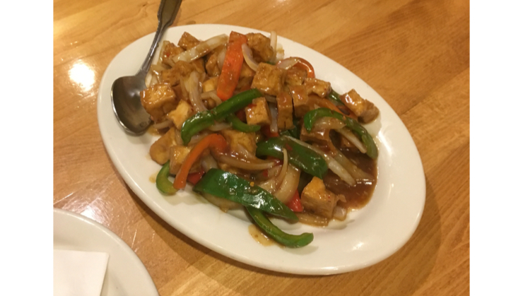 Vegan user review of Merit Vegetarian Restaurant in Sunnyvale. Lemon grass tofu #dinner