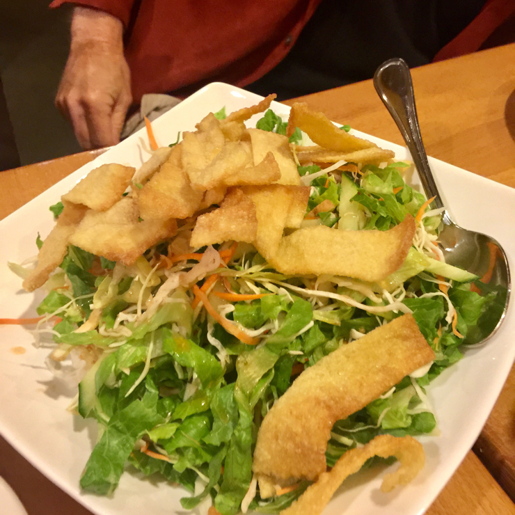 Vegan user review of Merit Vegetarian Restaurant in Sunnyvale. Wonton salad with lots of fresh raw greens a veggies. A must try. #food #dinner #restaurant