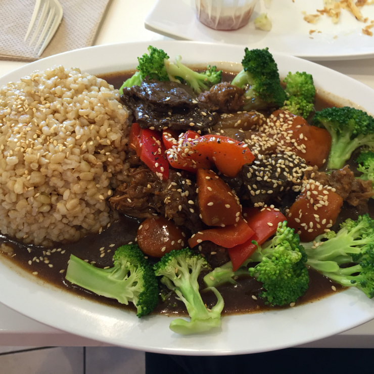 Vegan user review of Happiness Cafe in San Jose.