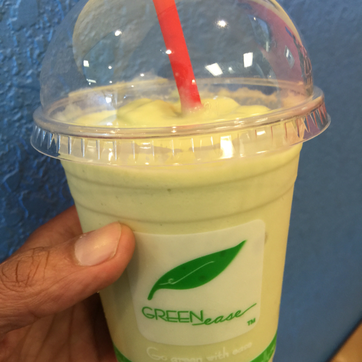 Vegan user review of Happiness Cafe in San Jose. Durian avocado smoothie. Totally amazing 😉 and not stinky at all. Try it yourself! #food #dessert #restaurant