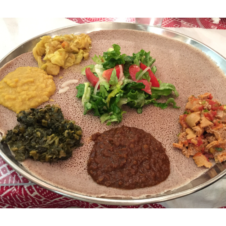 Vegan user review of Zeni in San Jose. Awesome Ethiopian food. #dal #gluten-free available #injera #dinner #lunch