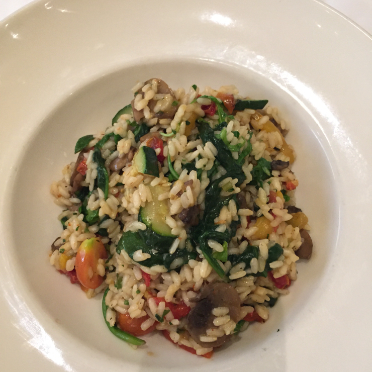 Vegan user review of Il Fornaio San Jose in San Jose. Vegan vegetable #risotto #dinner