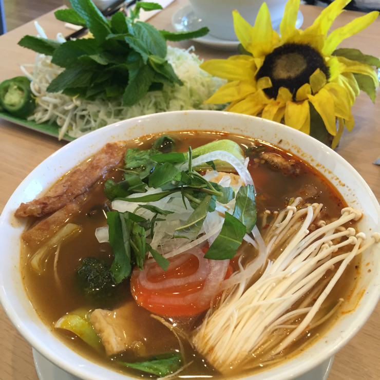 Vegan user review of Mint & Basil in San Jose. Authentic Vietnamese soup for lunch. It was delicious #noodles #soup #lunch