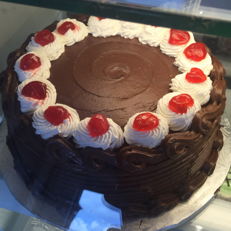 Vegan user review of Vegan Danish Bakery in Thornhill. Chocolate 🍫 cake 🎂 with cherries 🍒 on top. #dessert #food. At the Vegan Danish Bakery in Toronto.