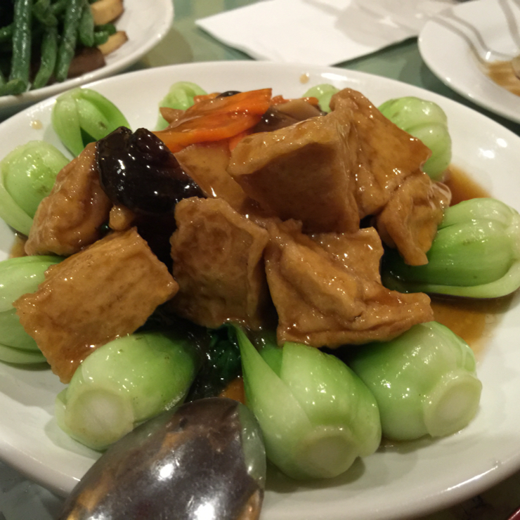 Vegan user review of Enjoy Vegetarian Restaurant in San Francisco. Baby 👶 bokchoy with tofu. #food #dinner #restaurant
